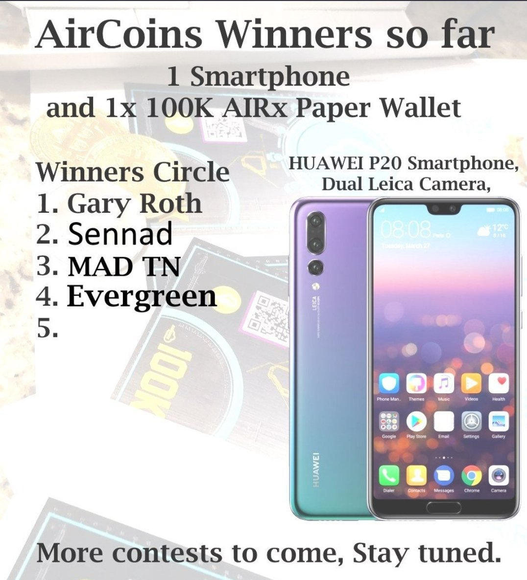 Well done to the WINNERS  of the Big #aircoins meme competition   They won   Android smart phone  100k #aircoins crypto wallet   &#39; You have to be in it to win it &#39;   Download the App now ! #cryptocurrency #prizes #Android9 #giveaway #airdrop #meme #contest #ausbiz<br>http://pic.twitter.com/4YJLxpSQ3K
