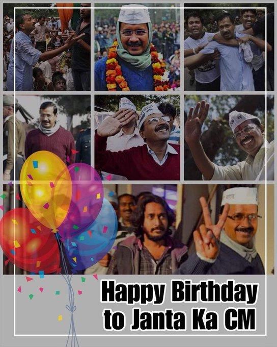 A Very Happy Birthday to Sri Arvind Kejriwal , CM Delhi.