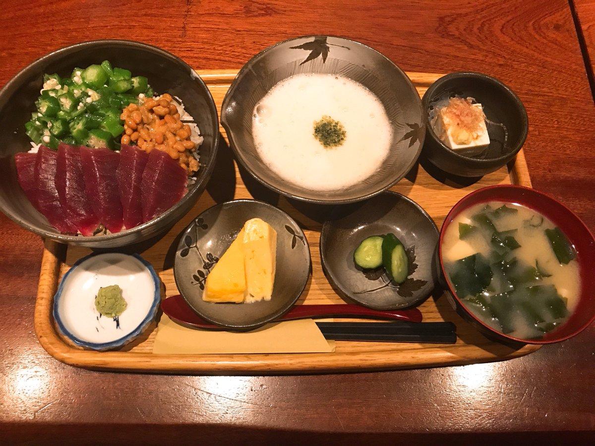本日の7 ELEVEN LUNCH HUNTERは「まだまだ続く暑さに負けるな!ネバっとピリッと夏バテ解消ランチ」都内でも珍しい、伊勢芋の専門店 #里乃や の #伊勢芋、納豆、オクラ、マグロの切り身と合わせていただく #三色とろろ丼 をハントしました😋#jwave #stepone813 #radiko #AbemaRADIO @Retty_jp
