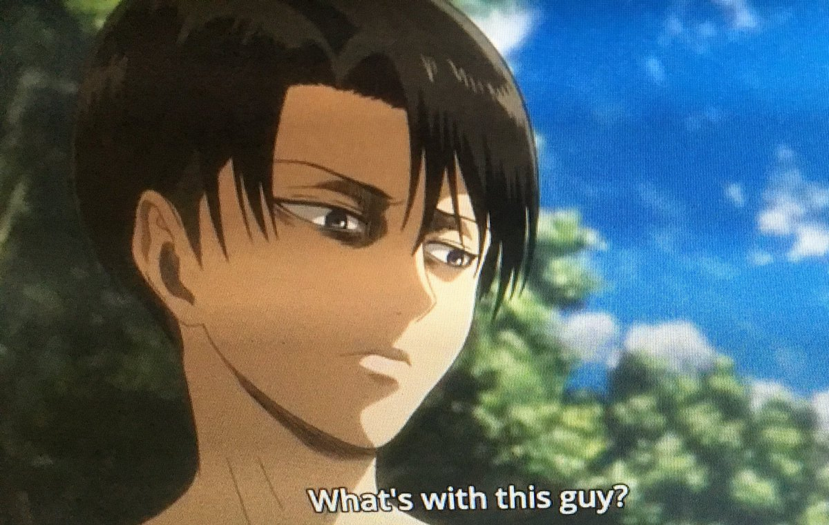 Now that I'm caught up I gotta say #AttackOnTitanSeason3 has been incredible so far and Levi is still a fucking bad ass