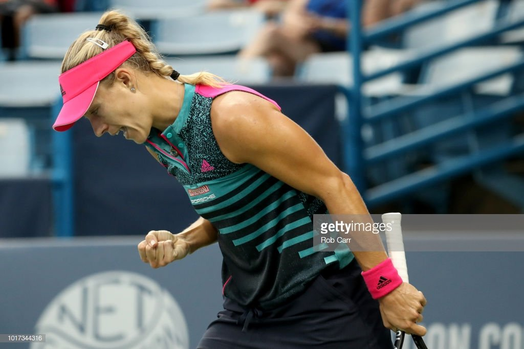 . @AngeliqueKerber notches 40th win of the season moves into the 3rd round with a 4-6,7-5,6-4 win over  Pavlyuchenkova #TeamAngie #CincyTennis<br>http://pic.twitter.com/L32F3cZmLC