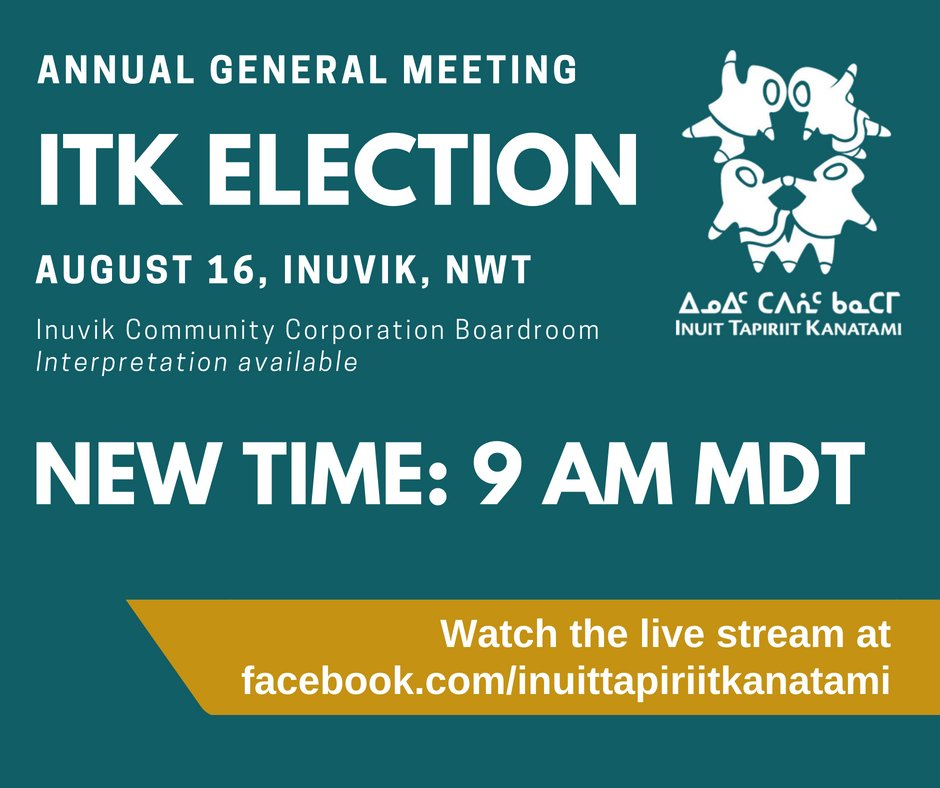Watch the #ITKelection live stream at facebook.com/inuittapiriitk… #cdnpoli #Inuit