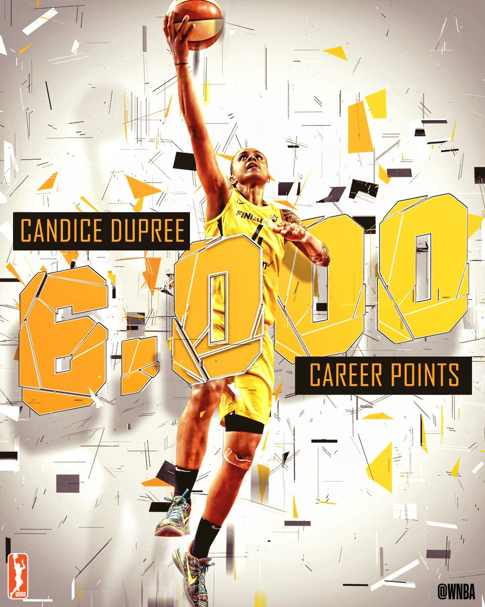 Congratulations to @CandiceDupree_4 on reaching 6,000 #WNBA career points! #WatchMeWork