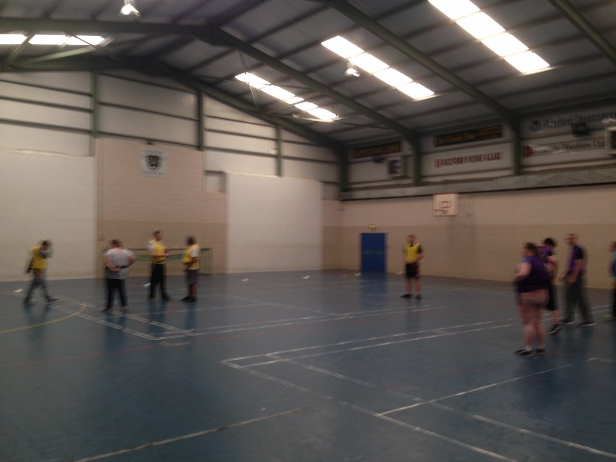 The Wexford Mental Health Group are flying it this week in the Josephs Community Centre. Getting better at tag rugby every week #FromTheGroundUp <br>http://pic.twitter.com/T9nfjqiC2f