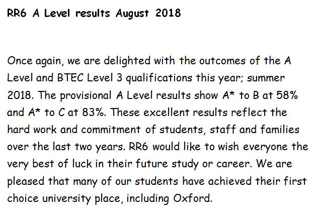 Congratulations to our Yr13 #RR6 Students from @RicardsTweets and @RutlishSchool on their fantastic A Level and BTEC results #hardworkpaysoff #excitingfutures #proud<br>http://pic.twitter.com/r9eNirpHVK