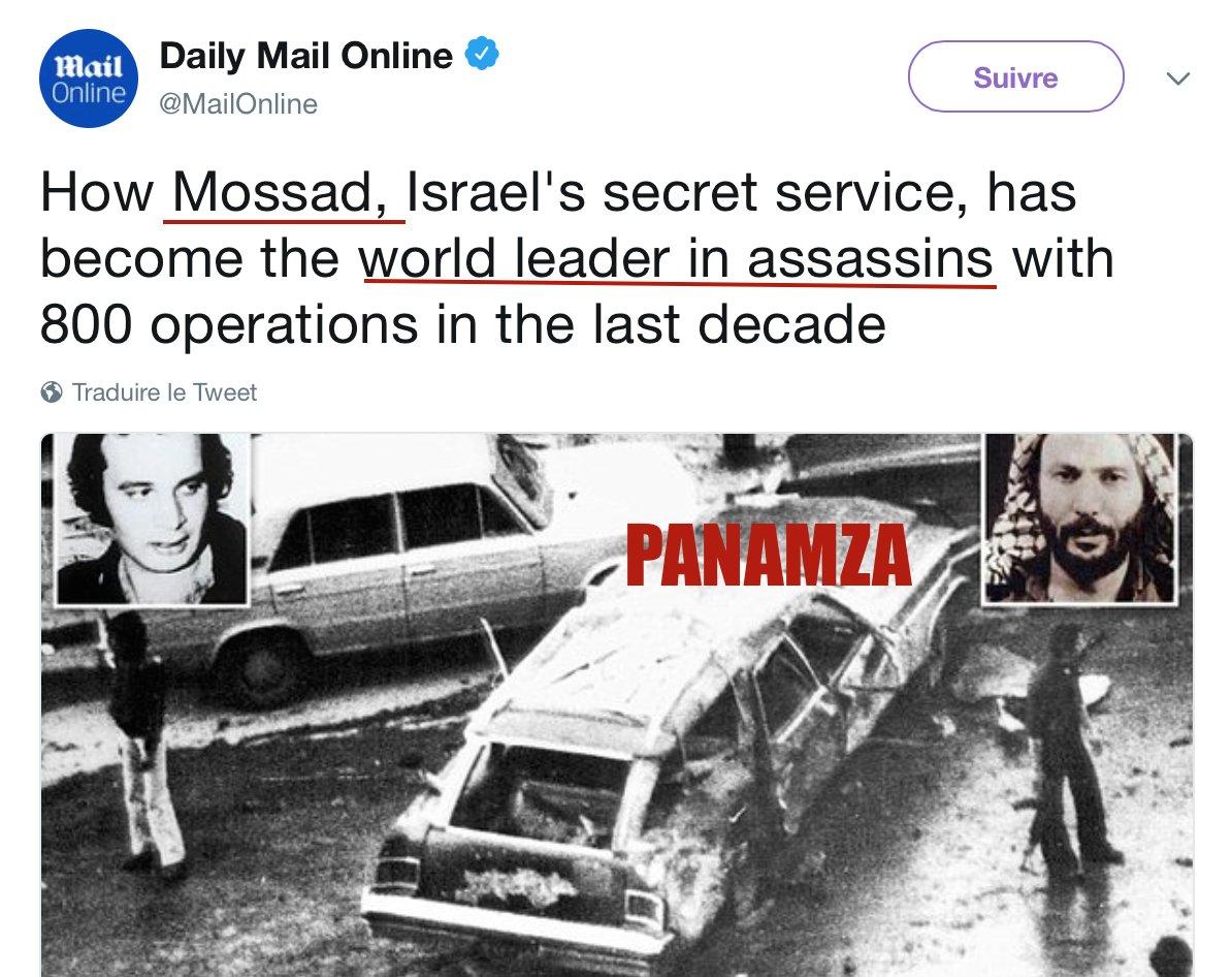 Un pur scandale : actif et protégé en France, le Mossad détient le record mondial d'assassinats
