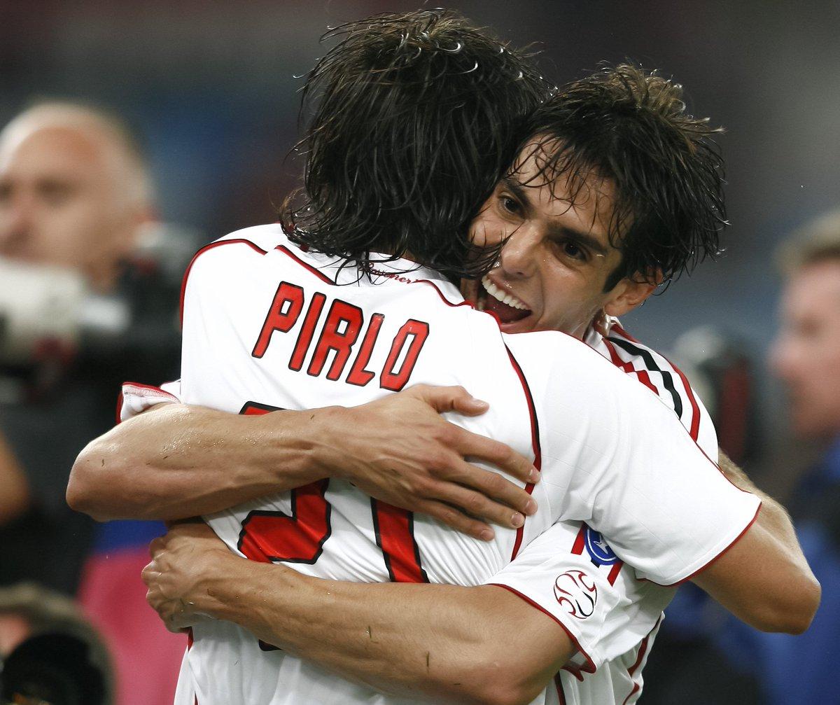 Kaká & Andrea Pirlo at AC Milan 🔴⚫️ #UEL #ThrowbackThursday