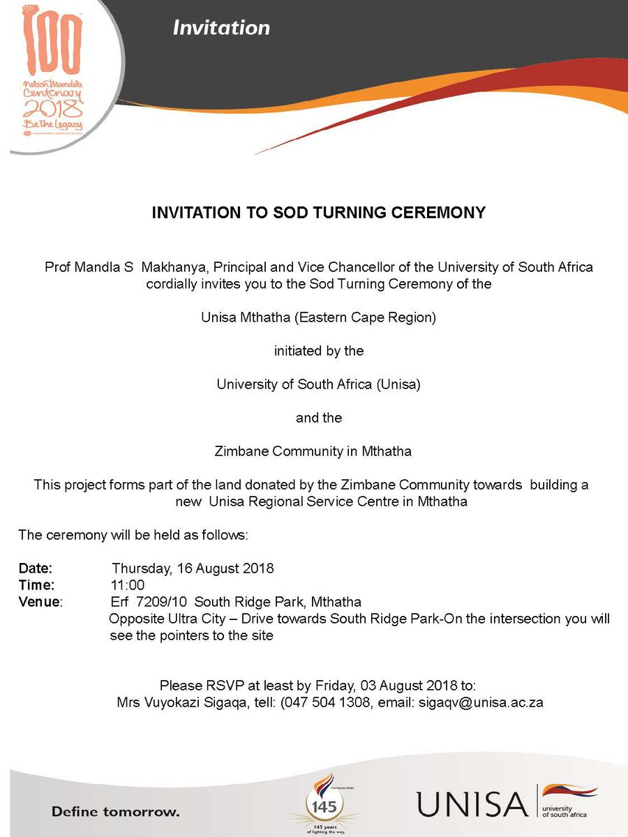 Unisa On Twitter Sod Turning And Signing Ceremony Of The