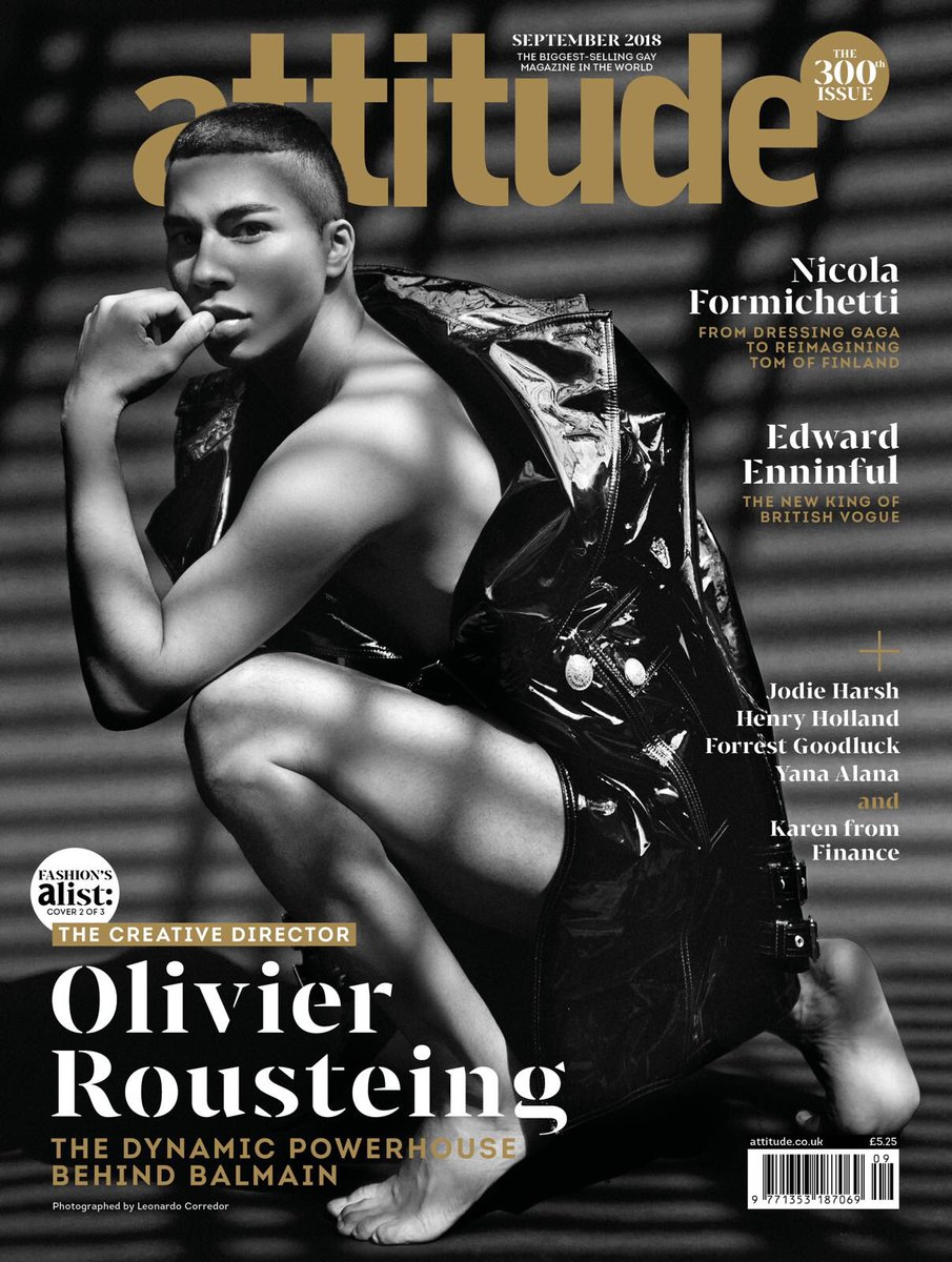 Fashion week Rousteing olivier out magazine may for lady