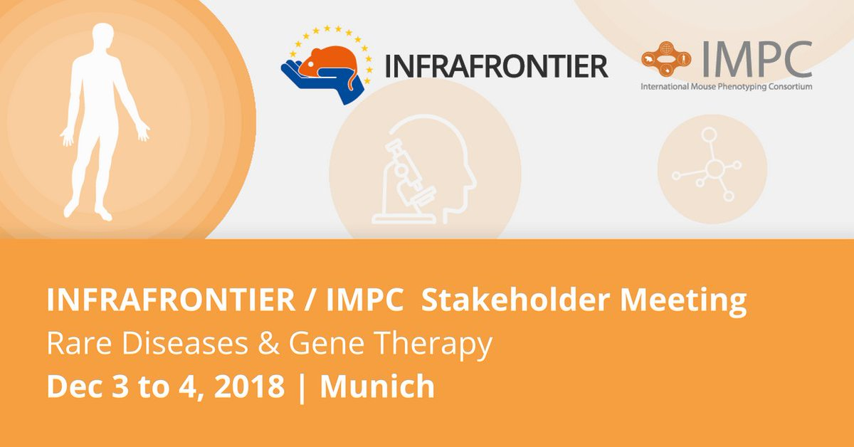 INFRAFRONTIER / IMPC Stakeholder Meeting 2018: @InfrafrontierEU and @IMPC invite medical research experts from all over the world to discuss advances in #RareDiseases and #GeneTherapy using animal models:  http:// bit.ly/INFRAFRONTIER_ IMPC &nbsp; … <br>http://pic.twitter.com/0pNyVKPpTi