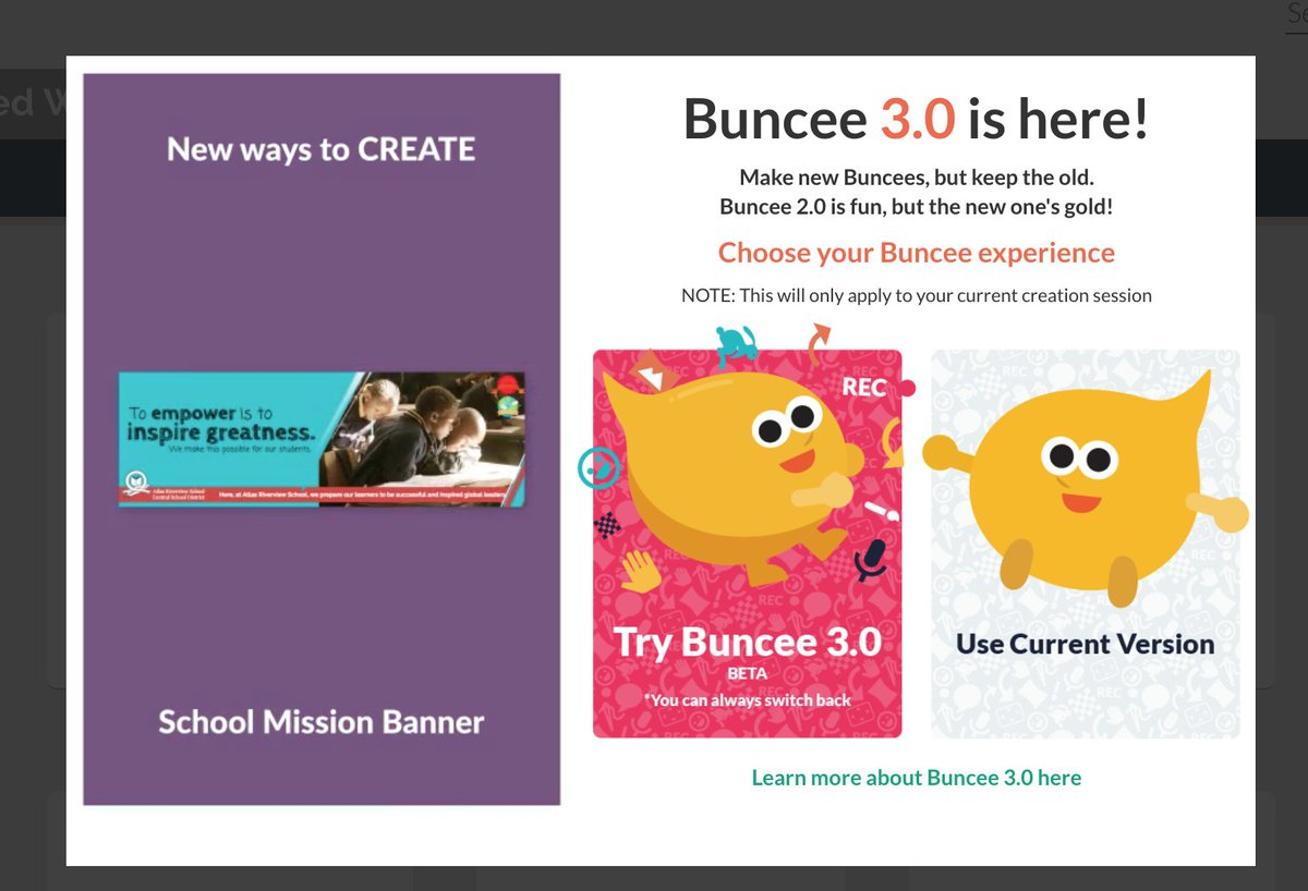 Well...looky here...can't wait to try out the new @Buncee 3.0!🤓🥳🤗 @techamys #4OCFpln