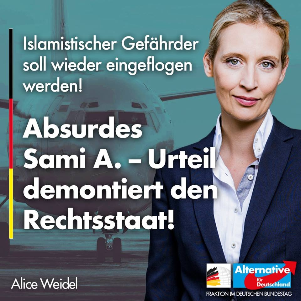 Alice Weidel's photo on Rechtsstaat