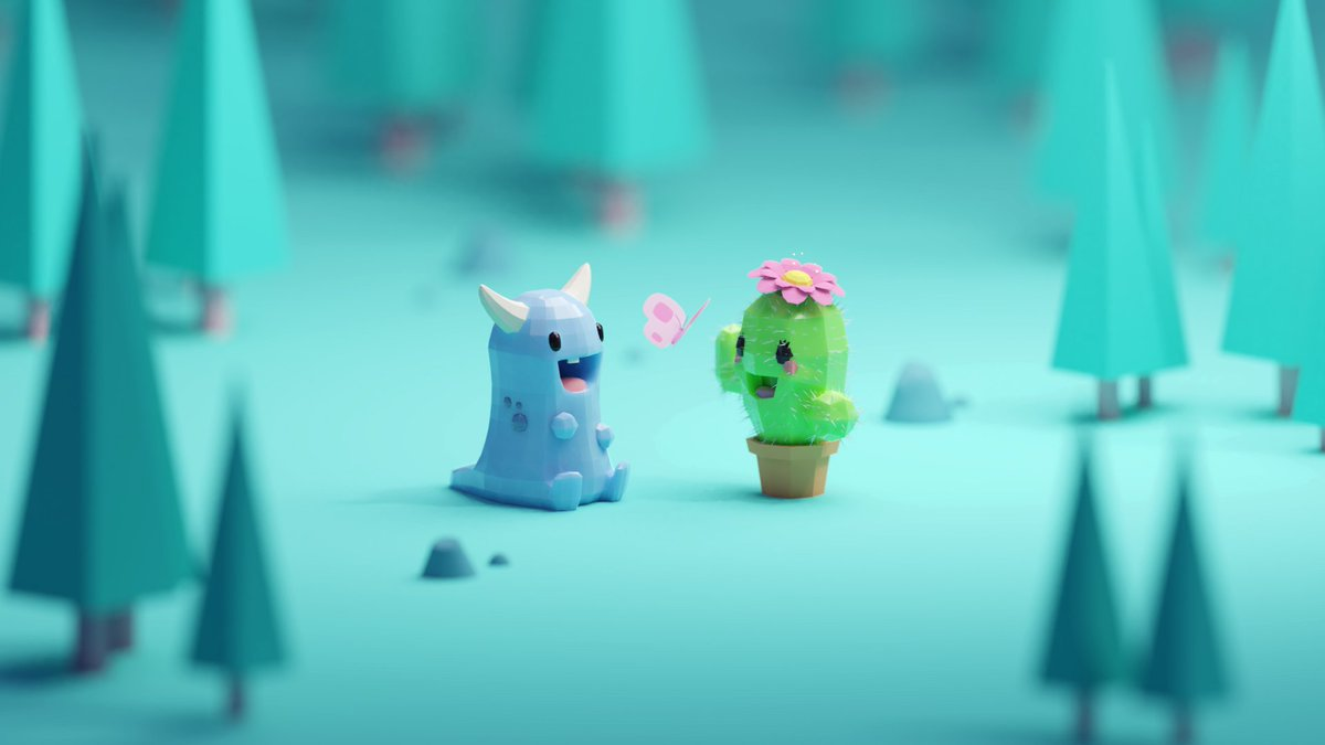 Look who became friends xD I have to find names for these guys  #blender #b3d #isometric #lowpoly <br>http://pic.twitter.com/4eRcI9g0Xm