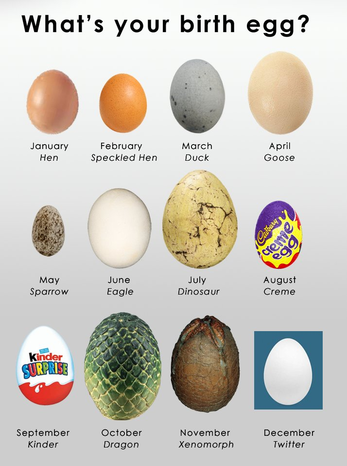 We've all heard of Birthstones, but do you know your Birth Egg?
