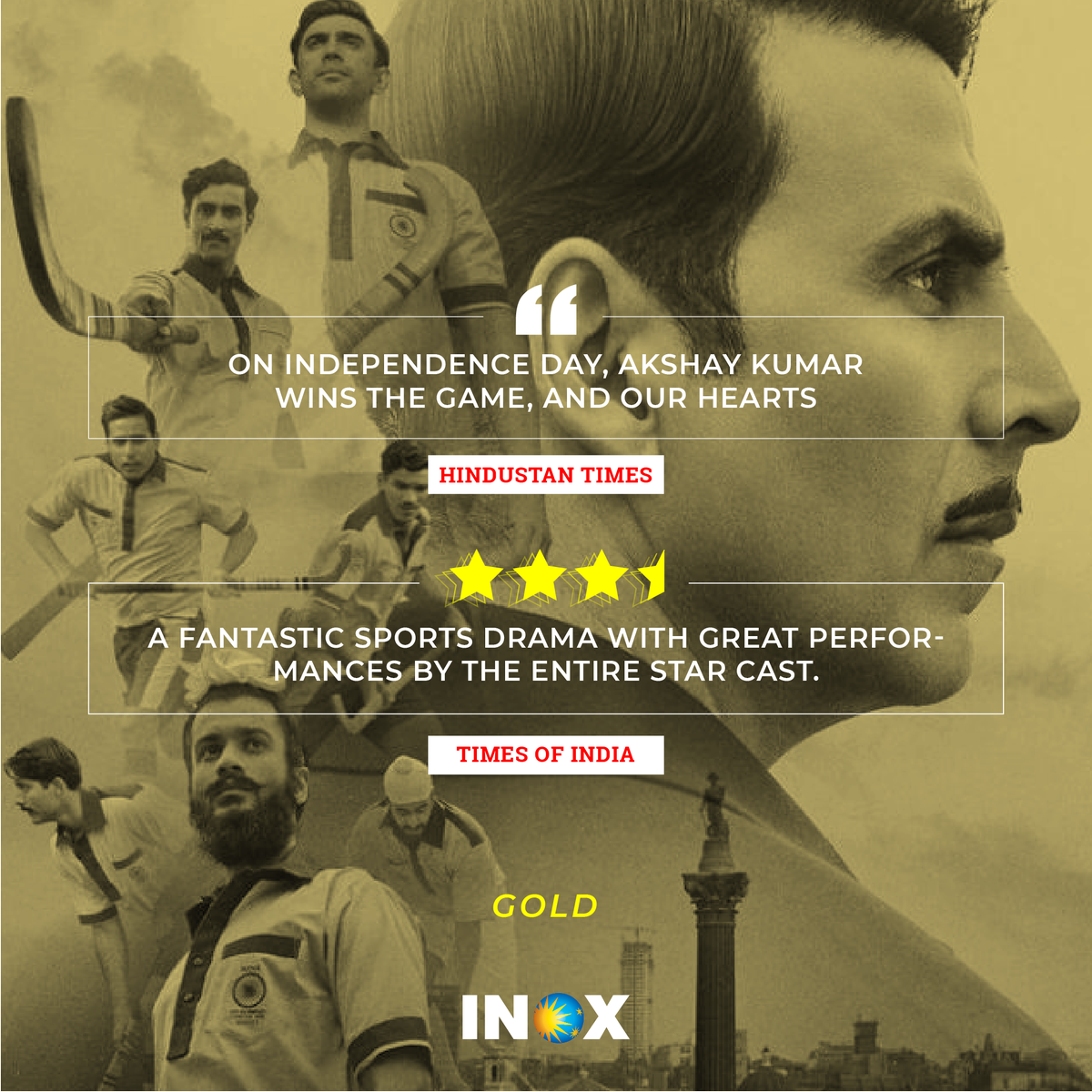 When #Gold wins a gold! Have you watched the movie yet? Share your take with us. If not, wait no more:  https:// bit.ly/2McH2qU  &nbsp;    @excelmovies @akshaykumar @Roymouni @ItsVineetSingh @FarOutAkhtar @reemakagti #SunnyKaushal @kapoorkkunal @ritesh_sid @TheAmitSadh<br>http://pic.twitter.com/FyFZfmuWgT