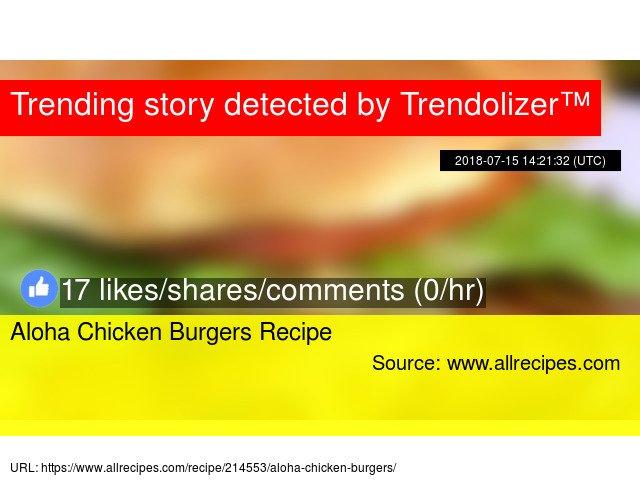 Aloha Chicken Burgers Recipe https://t.co/D3AJ3PCRVi https://t.co/itaBTnCSQH