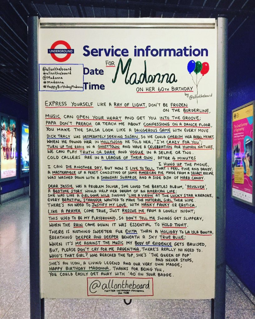All on the board's photo on #happybirthdaymadonna