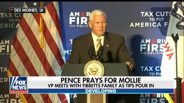 .@VP Pence prays with Mollie Tibbetts' family in Iowa, promises federal support https://t.co/IUUI3Snoa5 https://t.co/8aFWGRjhmW