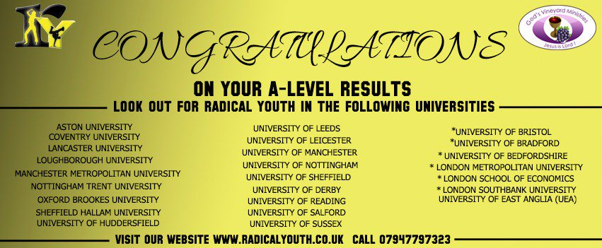 If you&#39;re not coming to Leicester, check out our other ry regions:  @RYNotts @ry_reading @ry_leeds @RYAstonUni @RYsheff @RY_Coventry @RYOxford_ @RY_Manchester @RYlufbra @RY_Sussex @RYTrentside @RYLancaster  @RYHudds   Any queries?DM any region or contact @RadicalYouthHQ <br>http://pic.twitter.com/G2dP806Gdm