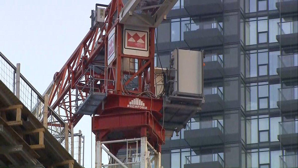 woman on crane live