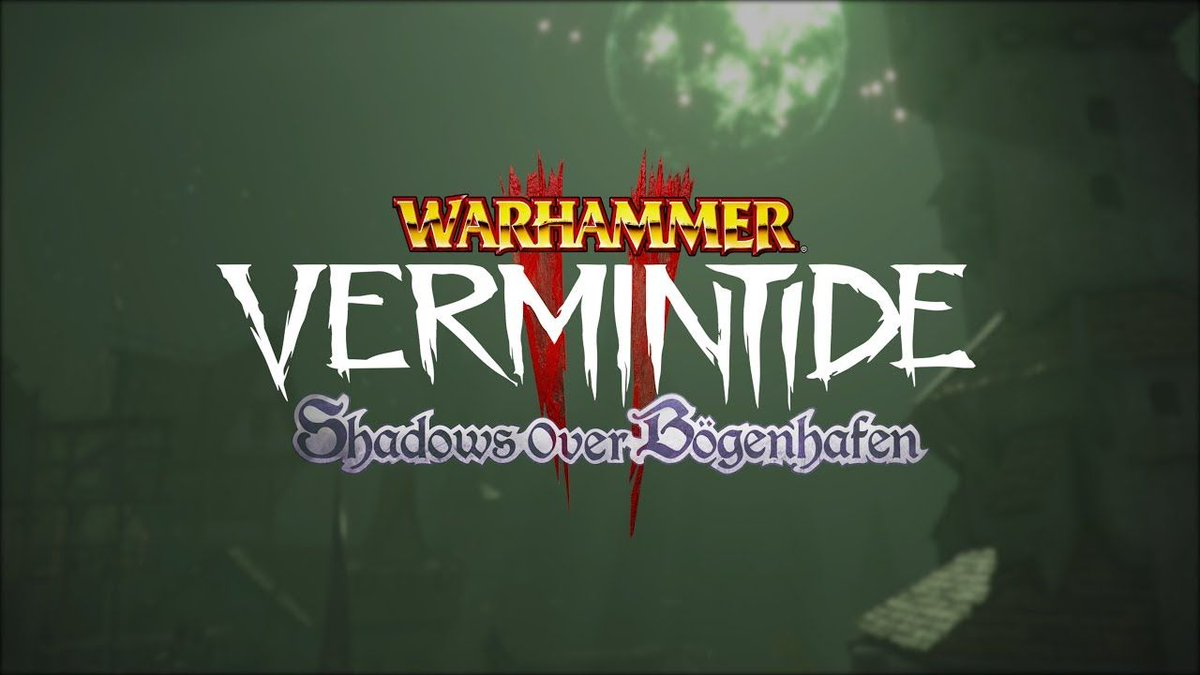 &quot;Now listen close, and listen good. I need you to get your filthy hands on the Blightreaper, but don't you even think about wielding it...&quot;  The first DLC for Vermintide 2, &#39;Shadows Over Bögenhafen&#39;, coming August 28th for PC and Xbox One.   https://www. youtube.com/watch?v=rYqlkF H3Fxo &nbsp; … <br>http://pic.twitter.com/4bEa2ubS0Z
