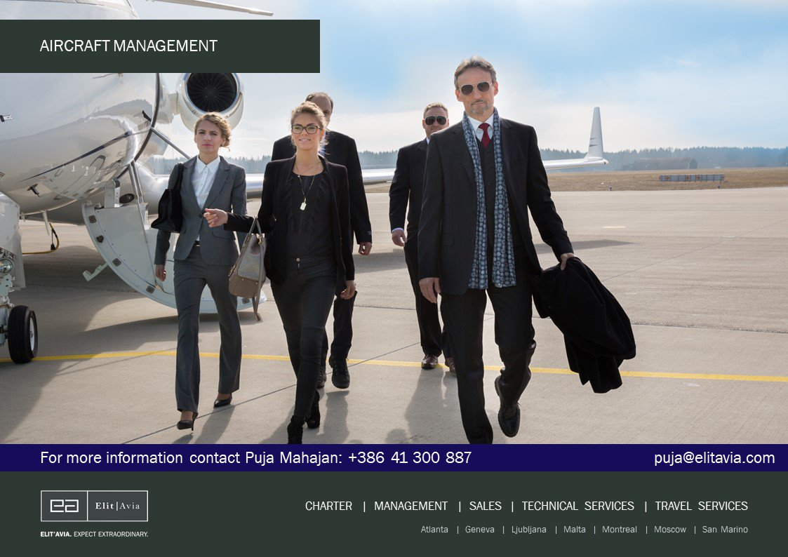 Elit&#39;Avia Aircraft Management: More than a service – a relationship. Contact Puja at puja@elitavia.com and learn more at  http:// elitavia.com  &nbsp;   #bizav #bizjet #чартер #бизнесавиация #businessaviation #Privatejet #CharterJet #luxurytravel #elitavia<br>http://pic.twitter.com/tryCMlfQpR