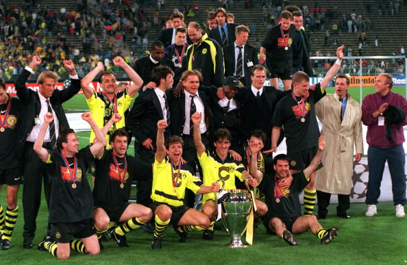 #Tbt: Legendäre Teams - @BVB 1996/1997. 🙌⚽🏆  #UCL #ThrowbackThursday