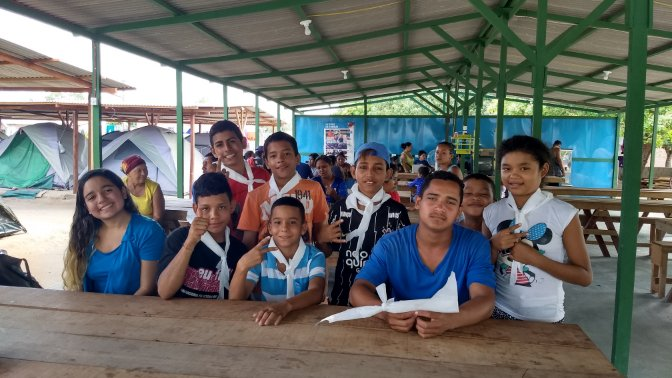 After fleeing their homes in Venezuela, families, and children are finding a safe space through scouting in Roraima, Brazil. Show your support by donating to their #ScoutFunding project today!  http:// bit.ly/2vEz2ET  &nbsp;  <br>http://pic.twitter.com/2pD8DL0x3W