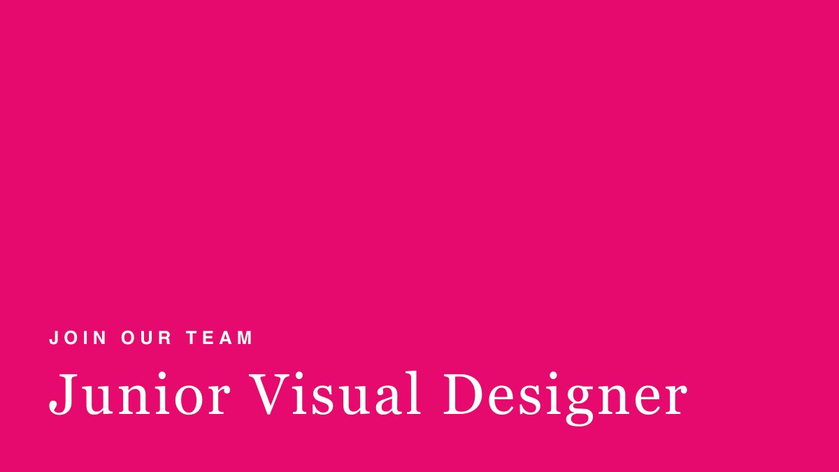 On the search for a Junior Visual Designer to join our small team. Brilliant pay, benefits &amp; clear career progression. You&#39;d be working on PwC client challenges across all industries. DM me @wearestripes @_TheOtherBox @shesaysuk @CreativeEquals @POCreativity @fxfegha @AllHereOrg<br>http://pic.twitter.com/qkPaZAajLf
