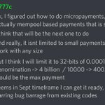 Image for the Tweet beginning: #KMD micropayments coming? 😀 Incredible