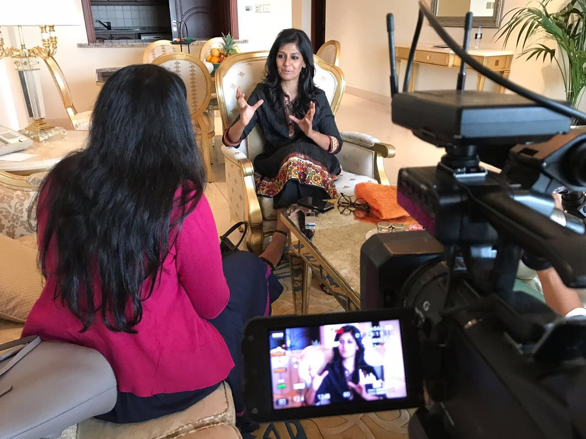 Today we're also with acclaimed actress and director @nanditadas in Dubai, talking about her film #Manto, starring @Nawazuddin_S.