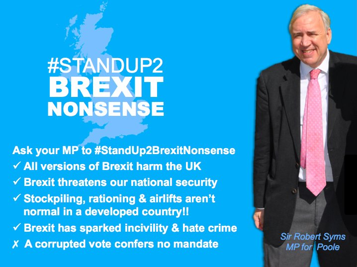If you live in the constituency of Poole, contact your MP #RobertSyms and ask him to #StandUp2Brexit  #StopBrexitSaveBritain #FBPE #WATON #Dorset #DorsetHour #Poole #PooleHarbour #PooleHour<br>http://pic.twitter.com/QoBZxVQ1iN