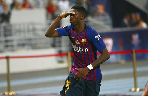 Dembele - 21 years old:  29 games, 12 goals &amp; 5 assists for Rennes  50 games, 10 goals &amp; 22 assists for BVB  24 games, 5 goals &amp; 8 assists for Barca  16 games &amp; 2 goals for France  World Cup  German Cup  La Liga  Spanish Cup  Spanish Super Cup   via @FTalentScout<br>http://pic.twitter.com/uD367QUACb