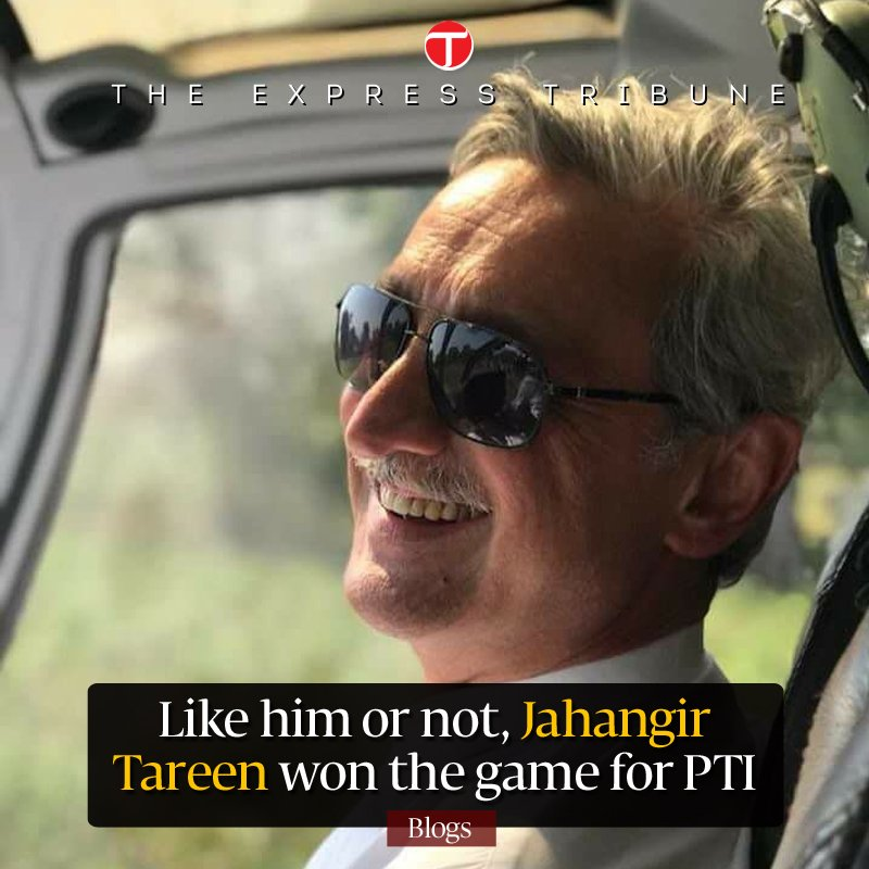 Much has been said about how #ImranKhan won on the chess board of power, but not much has been said about #JahangirTareen, without whom the #PTI would still be struggling to find a way into power politics, let alone winning the throne: @rjimad   https:// goo.gl/eDnUei  &nbsp;  <br>http://pic.twitter.com/FVkvU53KdD