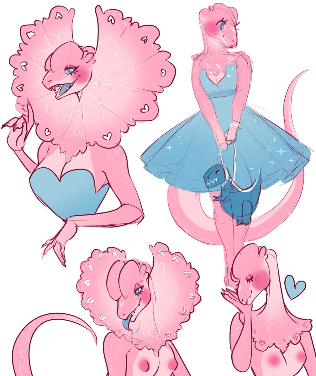 pink dino succubus who spits acid that makes u fall in love w/ her