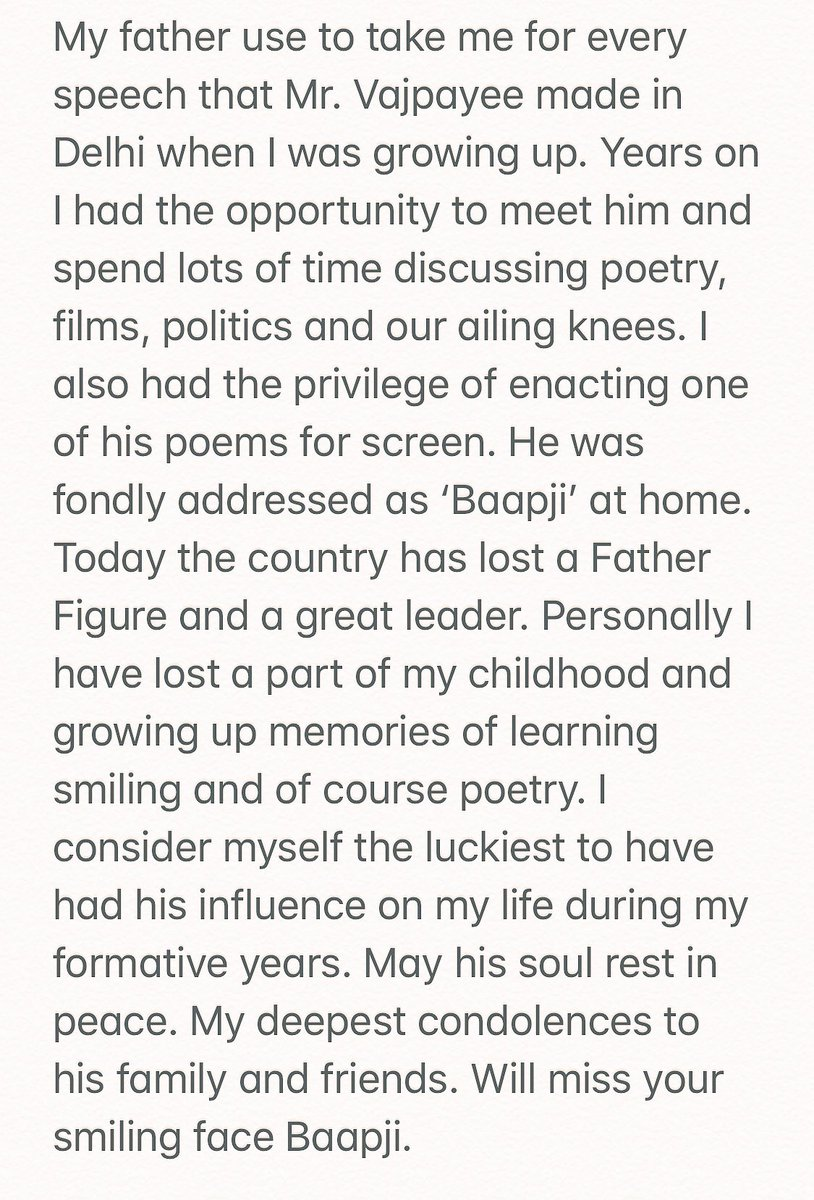 For The Poet Prime Minister of our country, love you Baapji...https://t.co/IKTYouMdiy