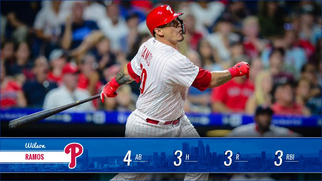 Philadelphia was introduced to Wilson Ramos last night. We're still pretty pumped, so let's do a giveaway!  RETWEET for a chance to win a baseball signed by the Buffalo!  RULES: https://t.co/pg2XMeOZlf