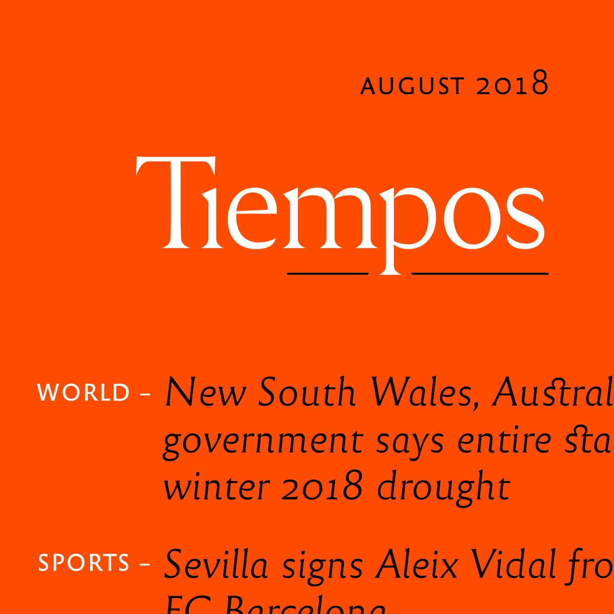 Serif: Reforma 1969, by Pampatype ( https:// buff.ly/2zeIfb1  &nbsp;  ) Sans-serif: Reforma 2018, by Pampatype Text from Wikinews #typography #freefont #news #graphicdesign #magazine #font<br>http://pic.twitter.com/FYx0FnFJwu