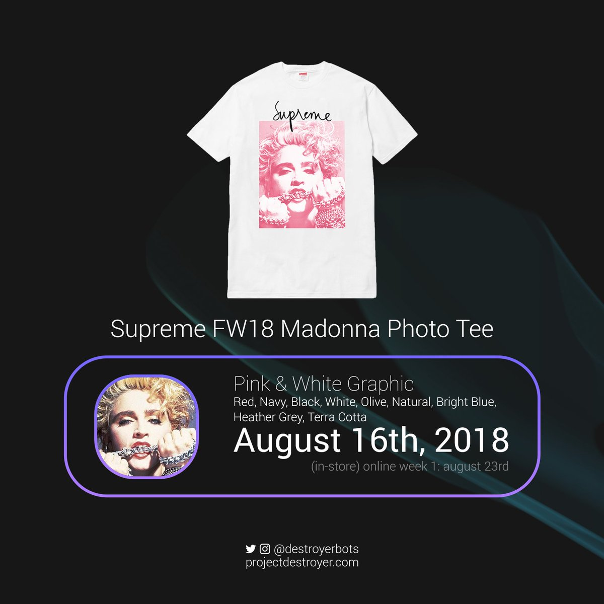 84cd9fe79 These same items will be releasing this Monday, August 20th at 11am EST.  What are you guys most hyped for? Personally I need that Madonna tee ASAP.