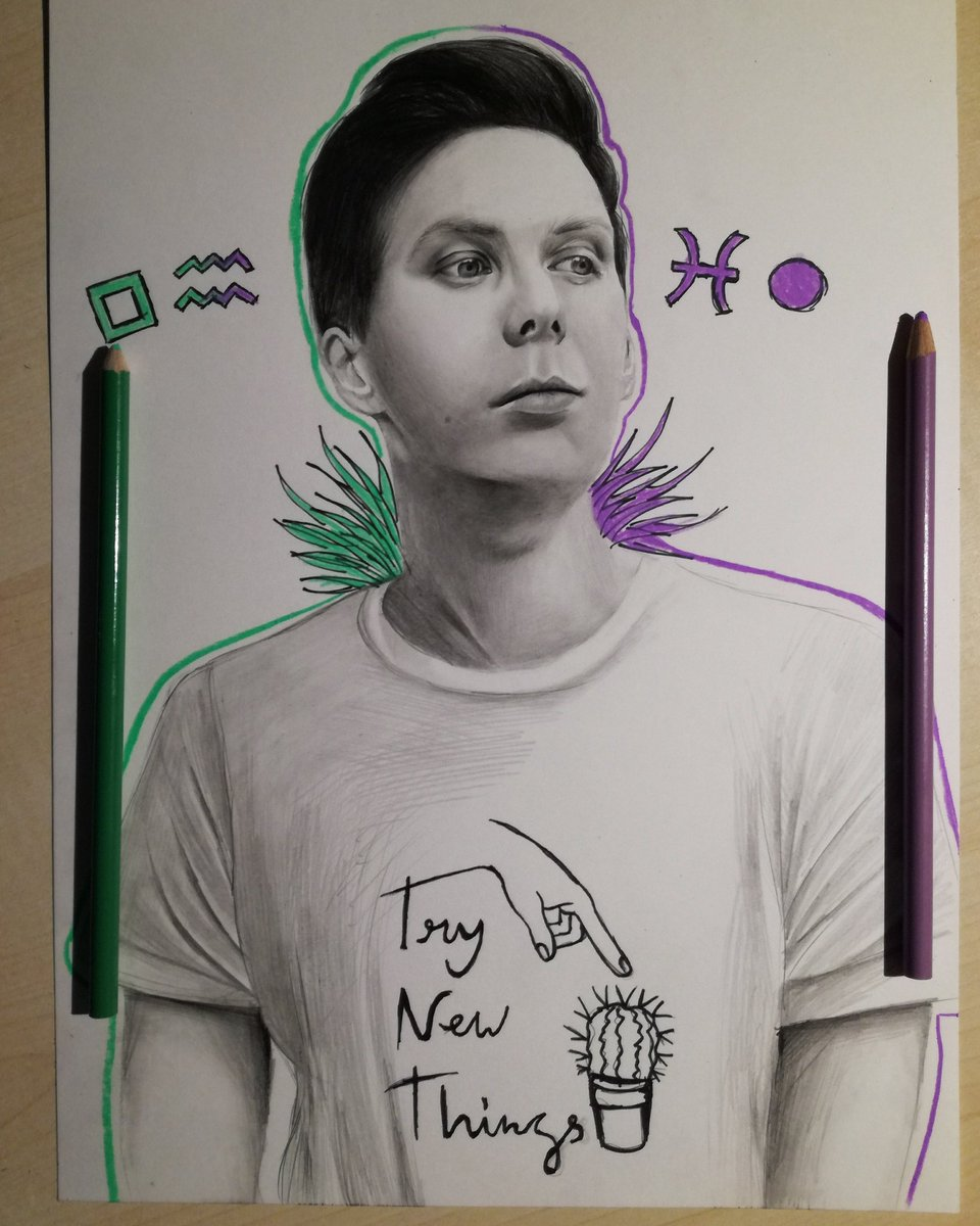 @amazingphil&#39;s new merch inspired drawing  hope you like it!  <br>http://pic.twitter.com/XMiwQKGu07