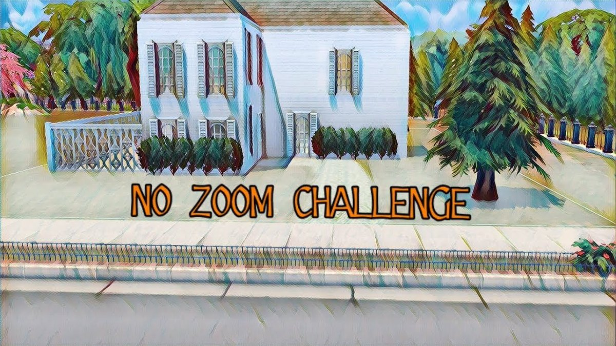The Sims 4: No Zoom Challenge  In todays video I am doing the No Zoom Challenge created by @hiphipreneeYT and I. The struggle was too real.  Enjoy! #thesims  #NoZoomChallenge   Link:  https:// youtu.be/uiX1cVnIg2g  &nbsp;  <br>http://pic.twitter.com/VjE0eFtmWC