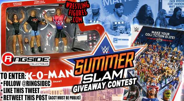 Enter our #SummerSlam Giveaway Contest! Win a #WWE #MilkOMania Epic Moments 3-Pack and #SDCC2018 Exclusive #Mattel #WWEEliteSquad Poster AUTOGRAPHED by @AJStylesOrg @MATTHARDYBRAND @BeckyLynchWWE @ZackRyder @TheCurtHawkins & @BillMiekina! See image for rules on how to enter!