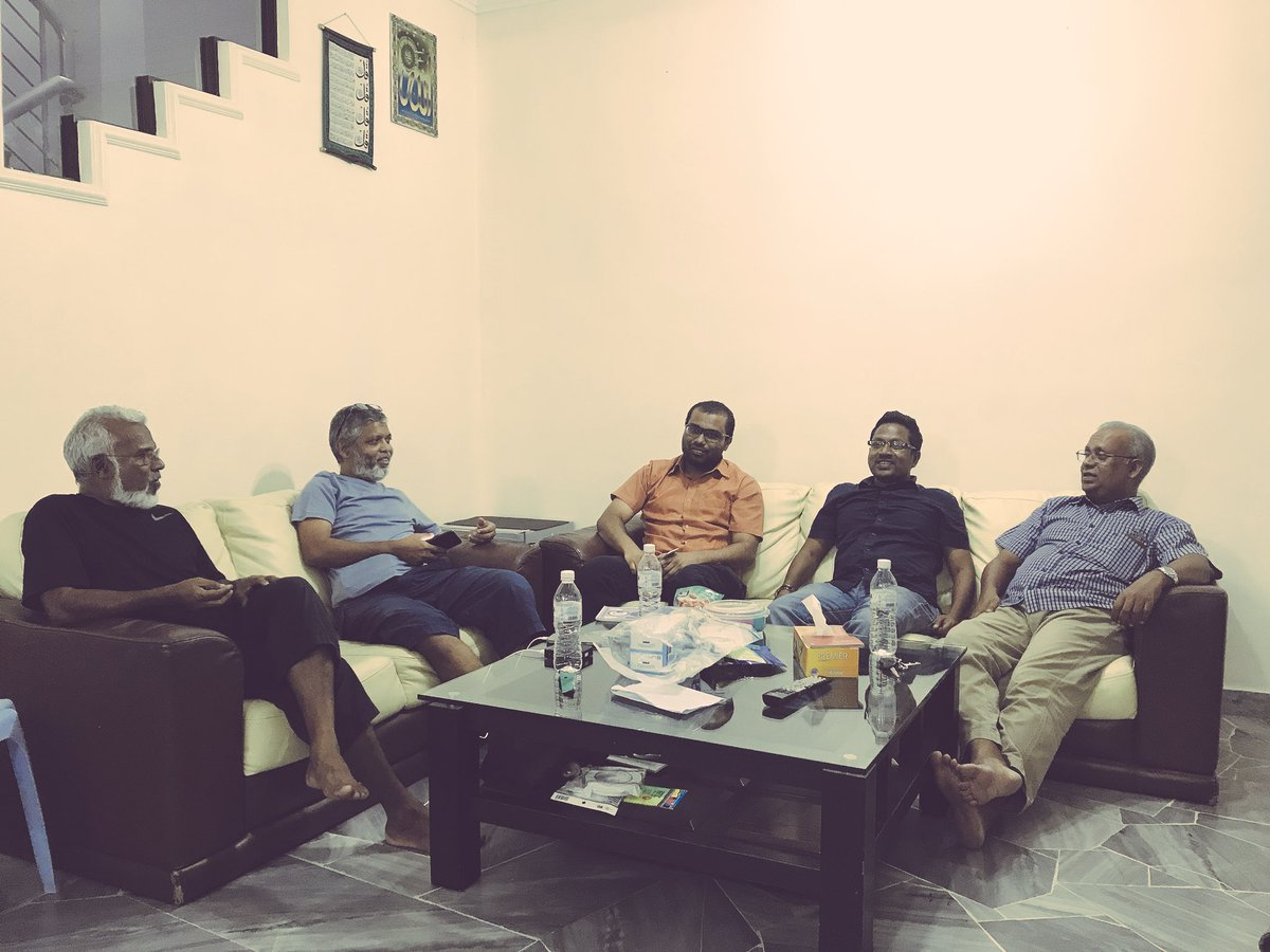 A short visit to Dato Jagaha by @Imthiyazfahmy, @AhmedSaeedGahaa and @Thasmeen before the official opening on Saturday the 18th #JazeeraaRaajje #IbuFaisal2018<br>http://pic.twitter.com/E9OjzjWFAL