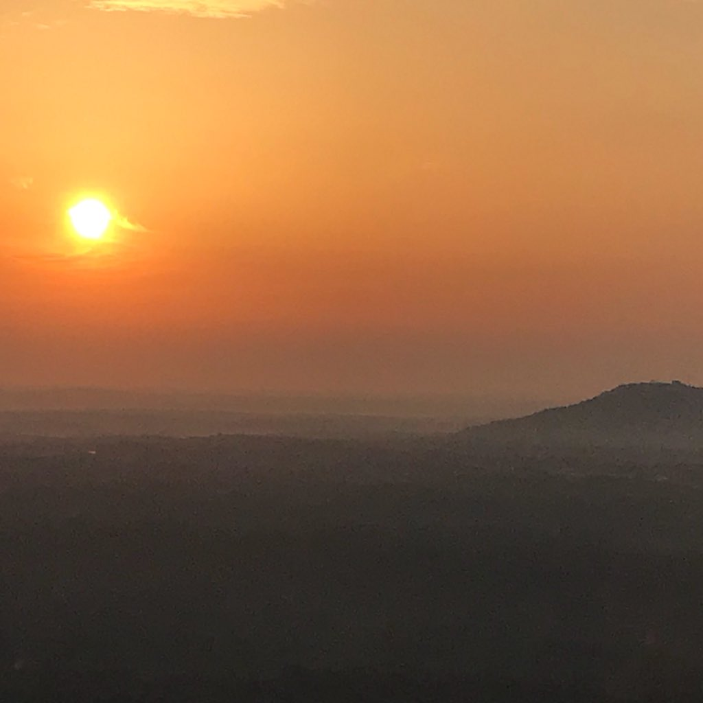 It's the rising sun off the east facing side of #stonemountain @wsbradio #skycopter @wsbtv #captncam