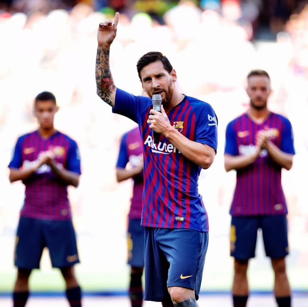 🤩 Leo #Messi 💪 👑 The words of our captain 🙌 🔵🔴 #ForçaBarça