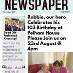 Our lovely Robbie 💕will be celebrating his 103rd Birthday, Wow,  we think he is an amazing Man, lots of wonderful stories told & still more to tell, we all love you Robbie xx ❣️🌞❤️