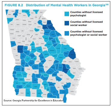 Did you know that 76 of 159 counties in Georgia do not have a licensed psychologist? Did you know that 52 of 159 Counties in Georgia do not have a licensed social worker?   We need change.  #VoteOtha #OthaforSupt #RestoringHope <br>http://pic.twitter.com/zVuT4O2vy9