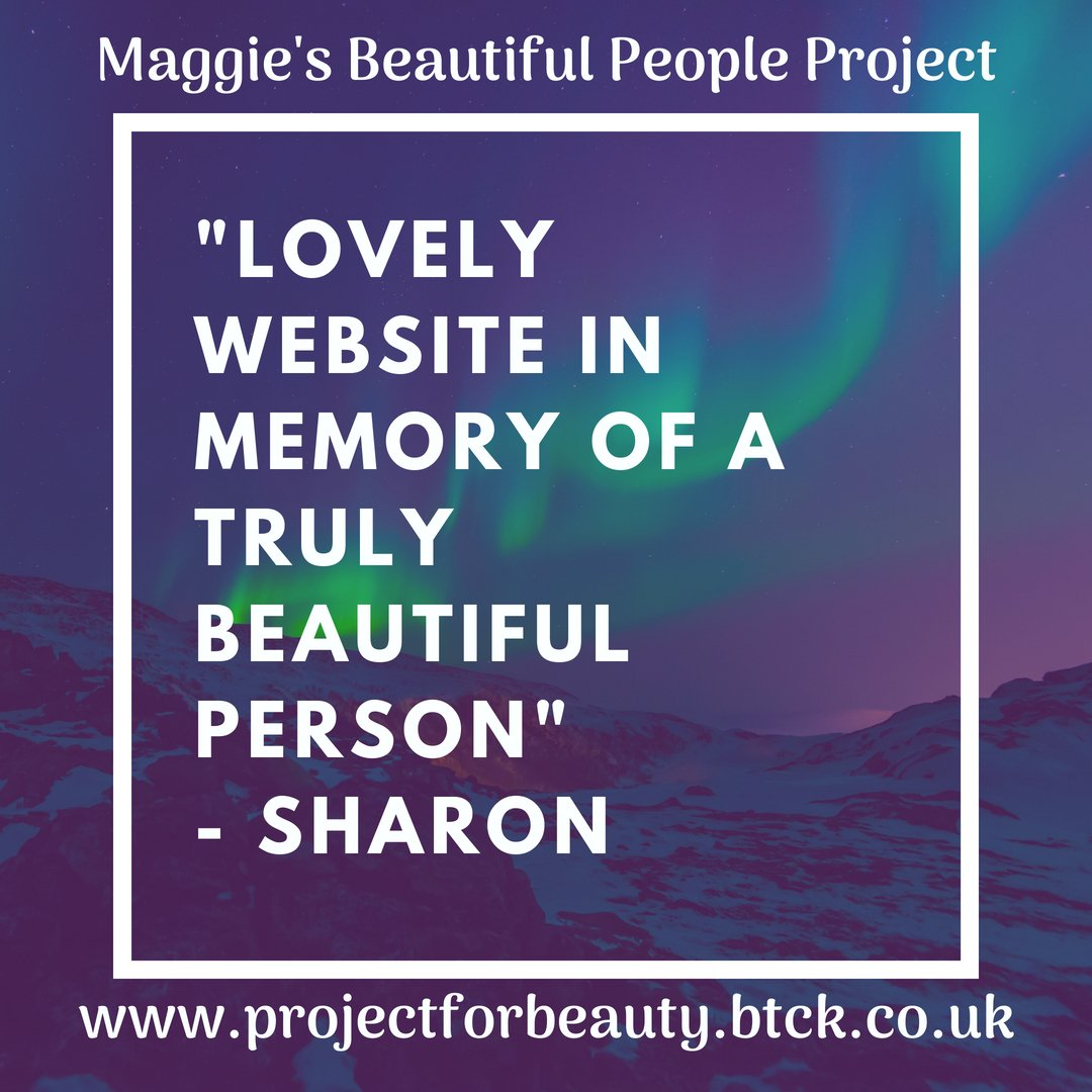 Have a look at our website and even leave a comment in our online guestbook about Maggie or the work that we are doing in her memory:  http://www. projectforbeauty.btck.co.uk  &nbsp;   #BeautifulPeople #BuildingAKinderFutureTogether #love #kindness<br>http://pic.twitter.com/hIYksVNT2k