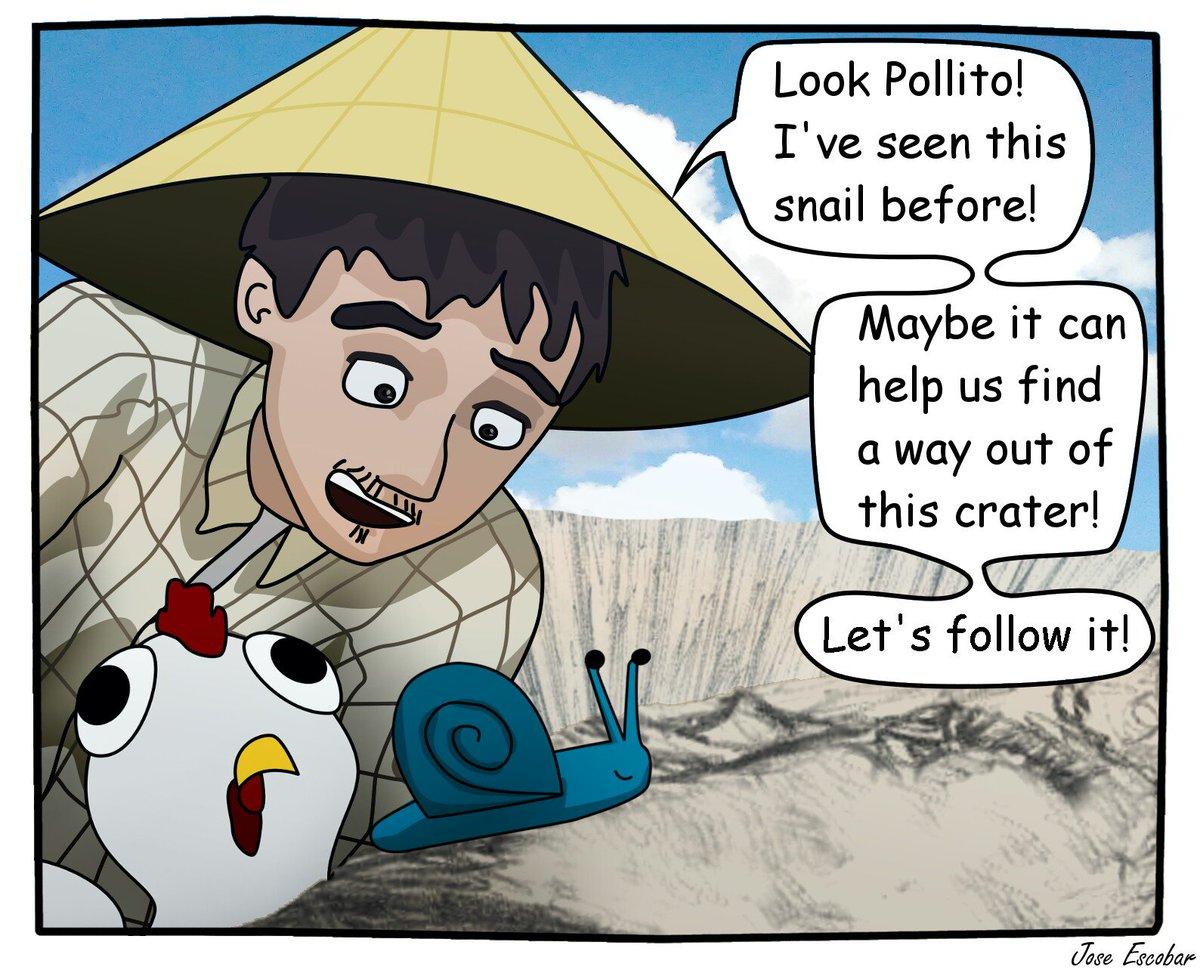 @BlondeAmbBlog&#39;s Snail returns!  #chicken #4yourmorning #smoke #comics #art #ArtisticThursday #animal<br>http://pic.twitter.com/LRtgIoTiFN