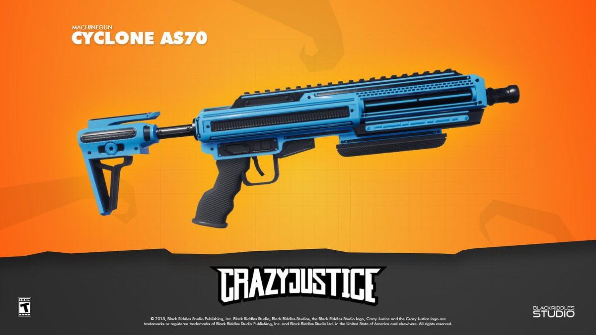 Created by the God of Storm, has the power of lightning and whiz like the wind. It is the Cyclone AS70 – Machinegun. Tell us how you would escape from a destructive weapon from close range! #crazyjustice #nintendoswitch #playstation4 #xboxone #steam #android #ios #gamers #gamedev<br>http://pic.twitter.com/EhOnIJXd9p